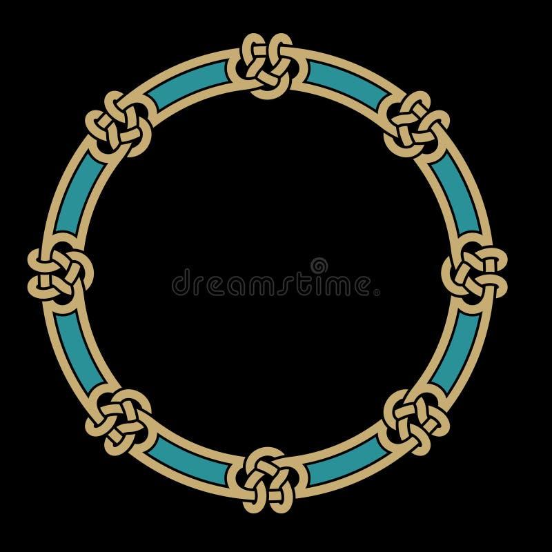 Keltisk flätad samman ram royaltyfri illustrationer