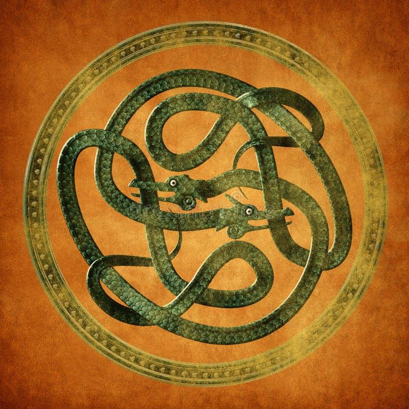Keltisk fnuren för orm vektor illustrationer