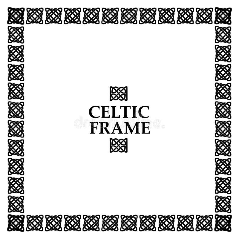 Keltisk fnurenfyrkantram royaltyfri illustrationer