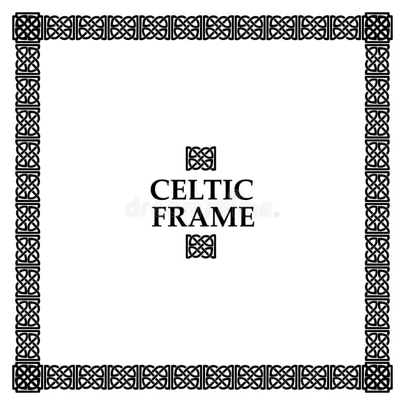 Keltisk fnurenfyrkantram stock illustrationer