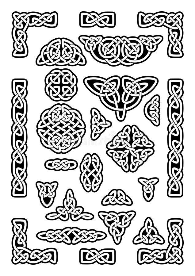 Keltisk fnurensamling royaltyfri illustrationer