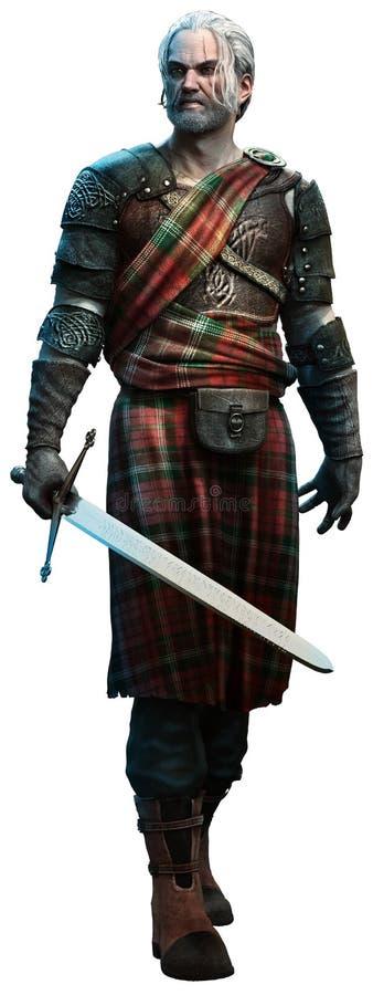 Keltisk krigare royaltyfri illustrationer