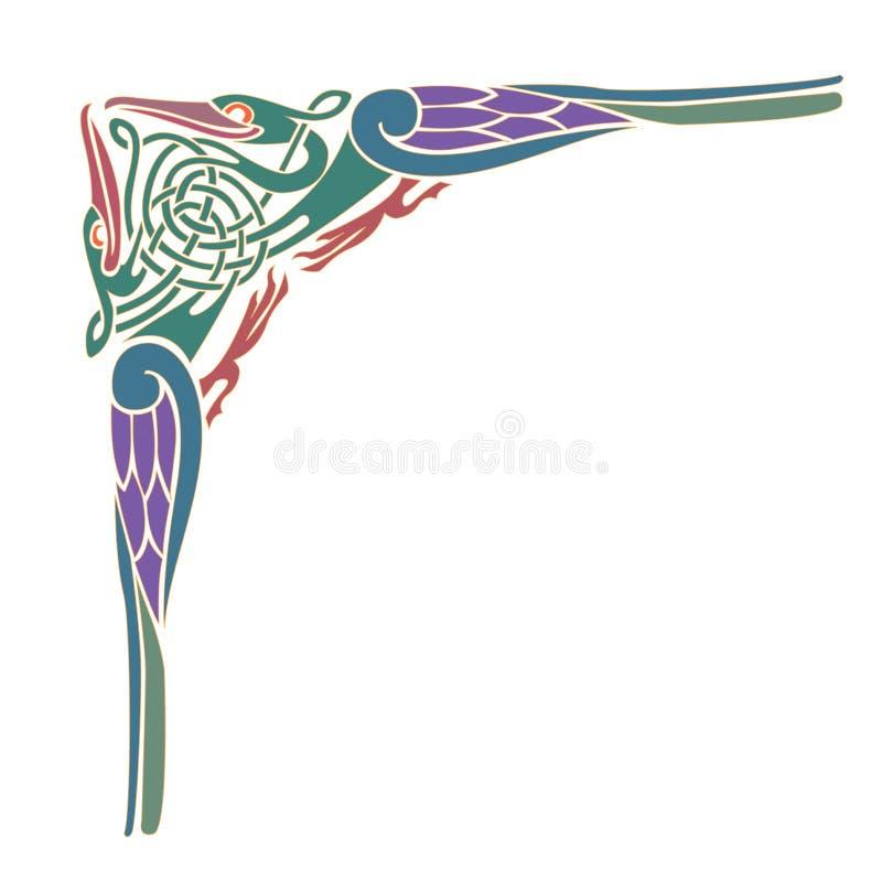 Keltisk prydnad - illustrationdesigner royaltyfri illustrationer
