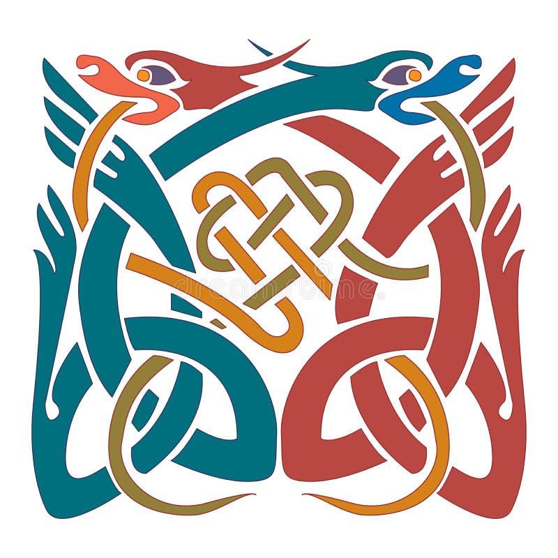 Keltisk prydnad - illustrationdesigner vektor illustrationer