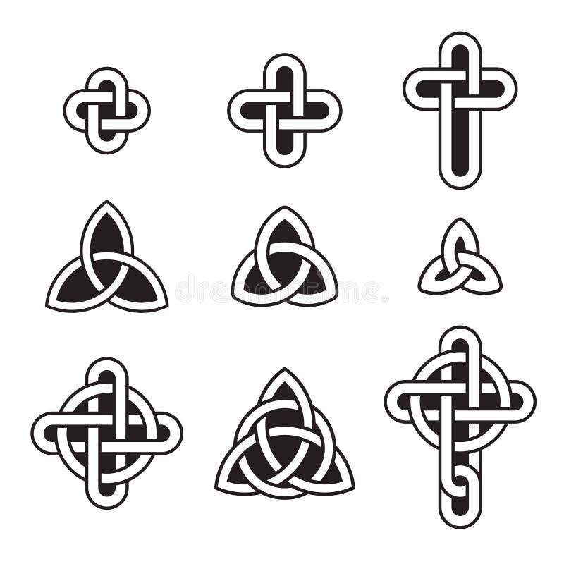 Keltisk prydnaduppsättning royaltyfri illustrationer