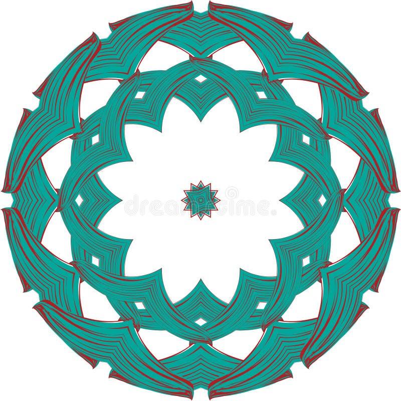 Keltisk rund prydnad vektor illustrationer