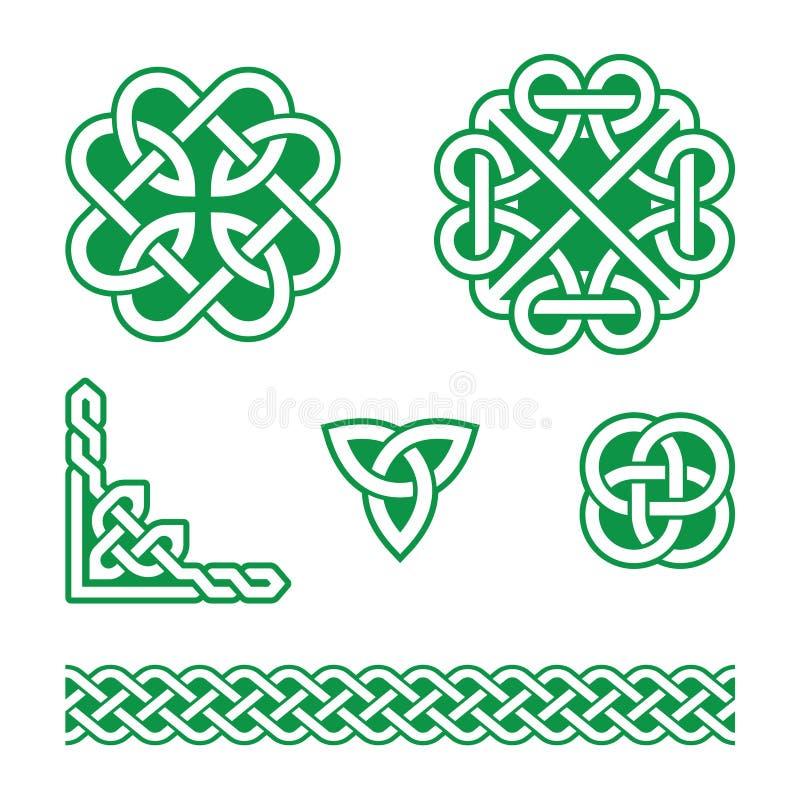 Keltiska fnurengräsplanmodeller - royaltyfri illustrationer