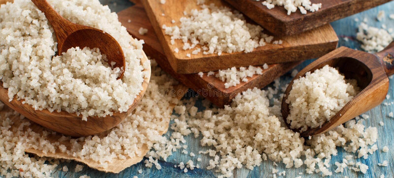 Keltiska Grey Sea Salt från Frankrike royaltyfri foto