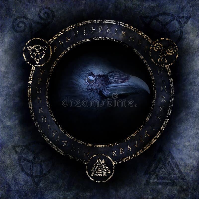 Keltiska Raven Spell arkivfoton