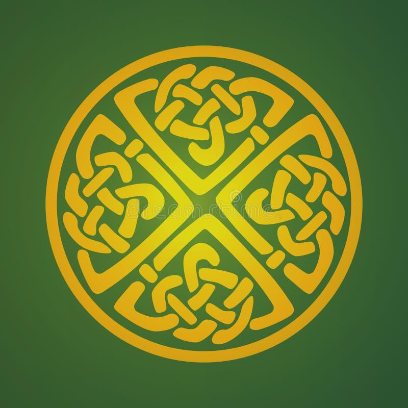 Keltiskt prydnadsymbol royaltyfri illustrationer
