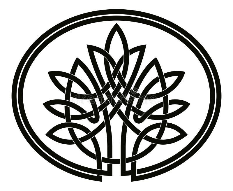 Keltiskt träd av liv royaltyfri illustrationer