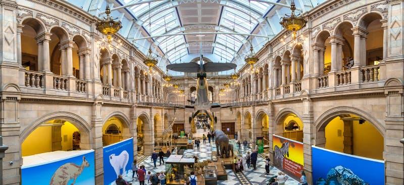Kelvingrove Art Gallery e museo a Glasgow immagine stock libera da diritti