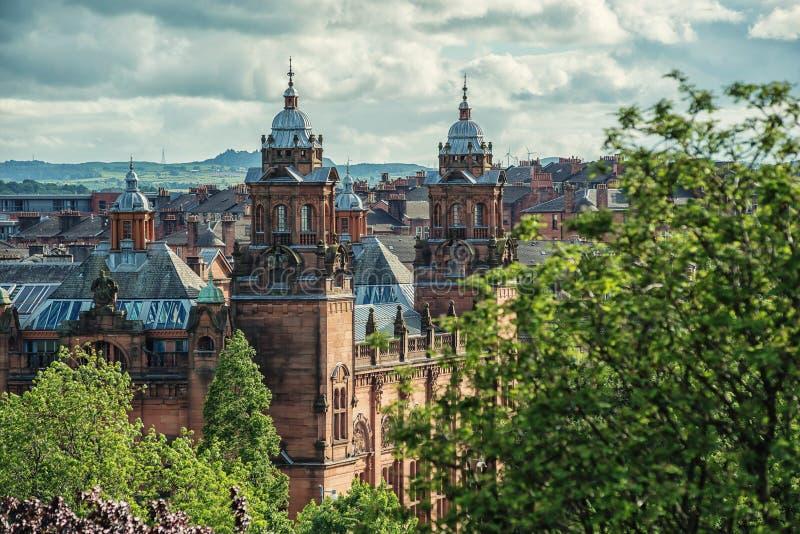 Kelvingrove Art Gallery e museo, Glasgow, Regno Unito immagine stock libera da diritti