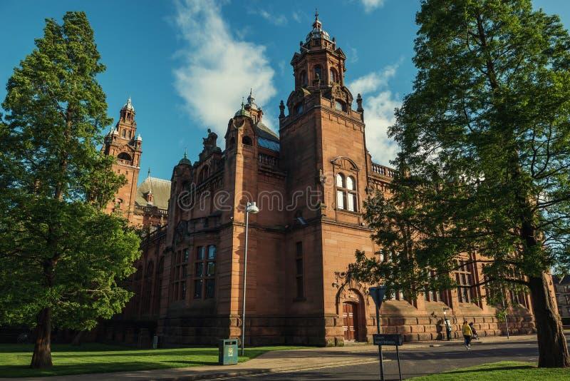 Kelvingrove Art Gallery e museo, Glasgow, Regno Unito fotografia stock libera da diritti
