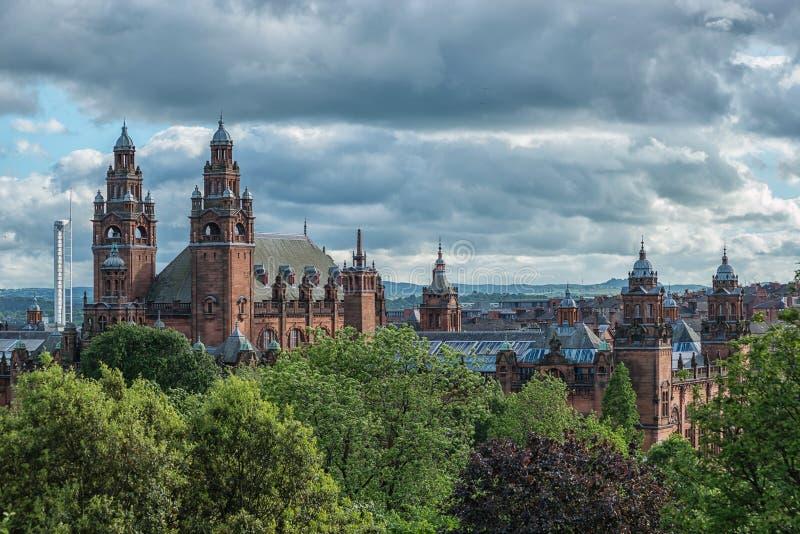 Kelvingrove Art Gallery e museo, Glasgow, Regno Unito immagini stock libere da diritti