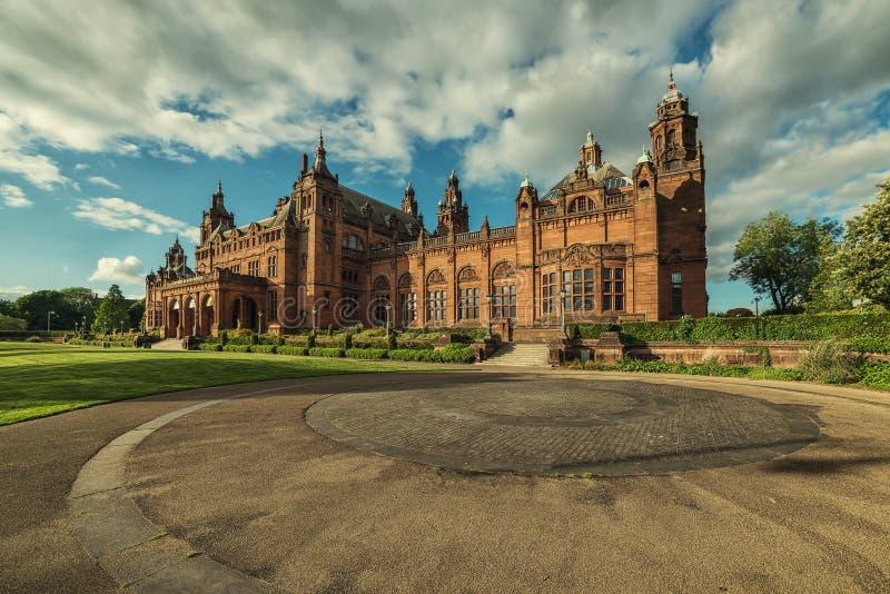 Kelvingrove Art Gallery en Museum, Glasgow, het UK stock foto's