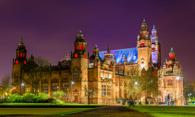 Kelvingrove Art Gallery and Museum in Glasgow stock photo