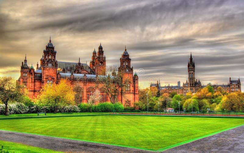 Kelvingrove Museum and Glasgow University royalty free stock images