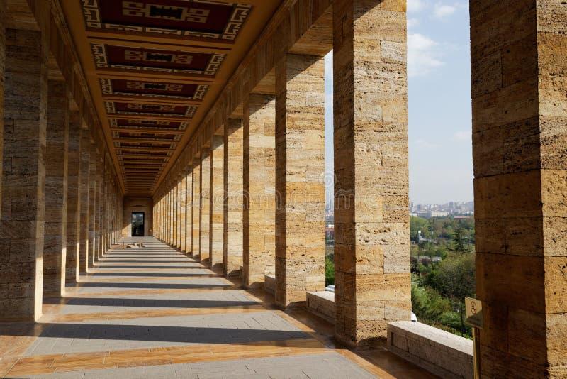 Kemal Ataturk mauzoleum w Ankara, Turcja obrazy stock
