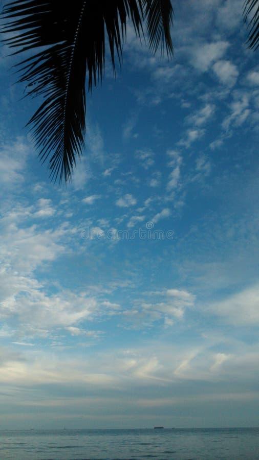 Kemala plaża Balikpapan Indonezja fotografia royalty free