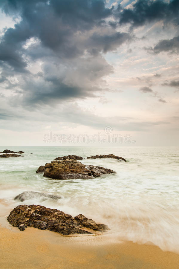 Kemasik strand arkivbild
