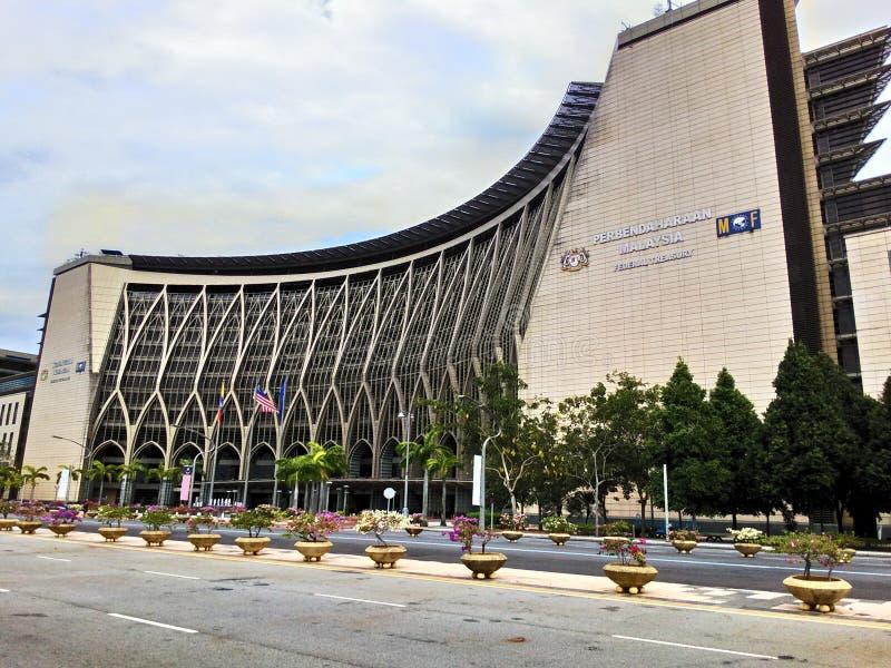 Kementerian Kewangan, ministère des finances photographie stock libre de droits