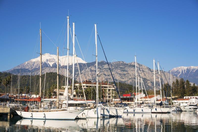 Kemerjachthaven, Antalya/Turkije royalty-vrije stock foto