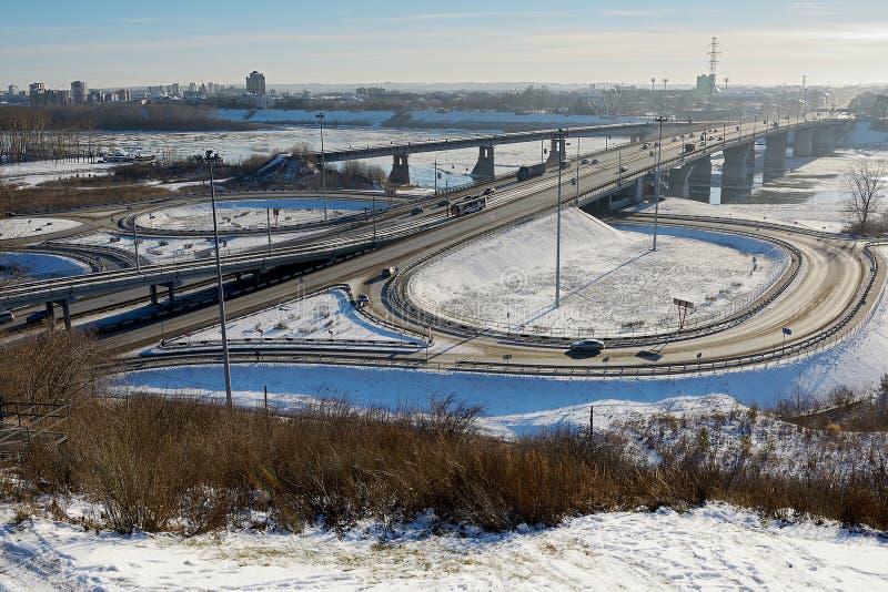 Kemerovo, puente de Kuznetsk fotos de archivo libres de regalías