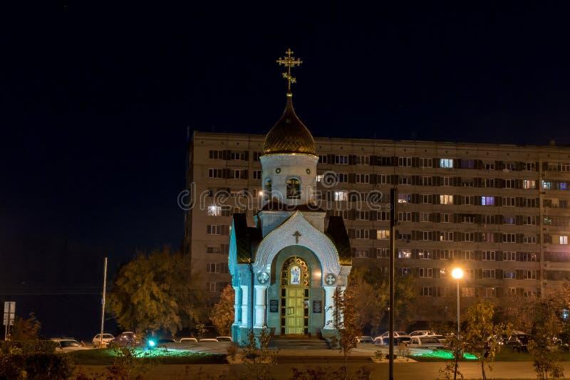 Kemerovo, Rusland, 04 10 2014, Kapel van St Gregory Wonderworker van Kiev-Pechersk royalty-vrije stock foto's