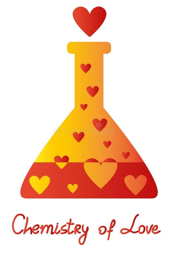 Kemi av förälskelse stock illustrationer