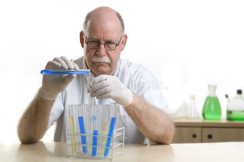 kemikalieforskareworking royaltyfri foto