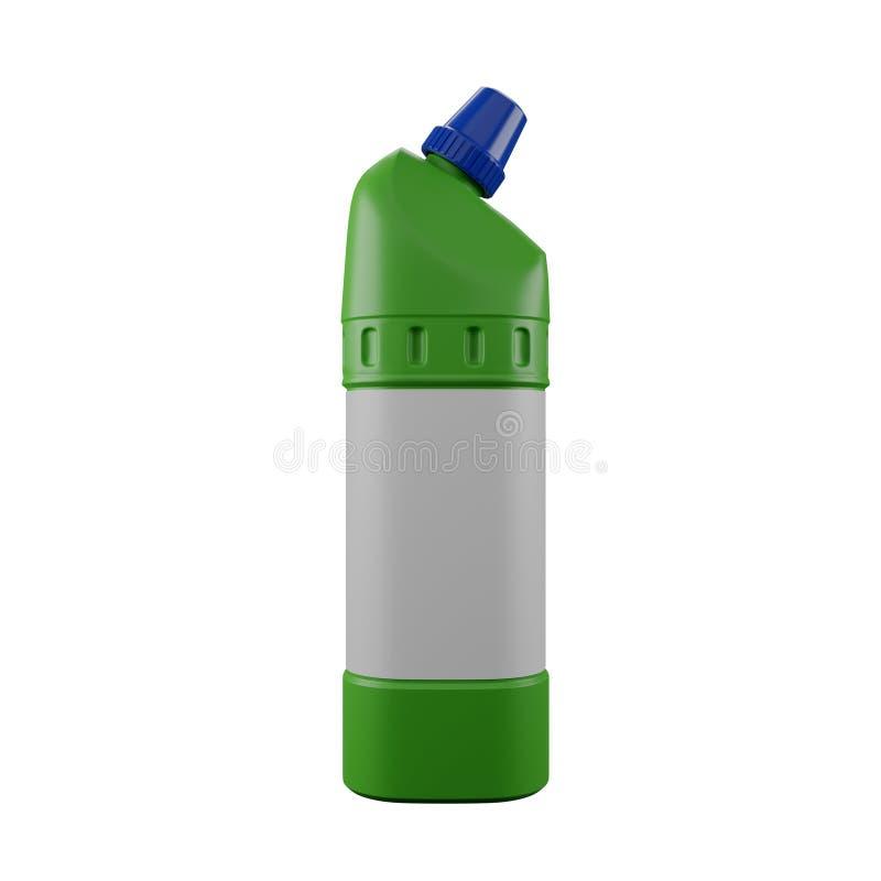 Kemikalier från gröna plastflaskor arkivbilder