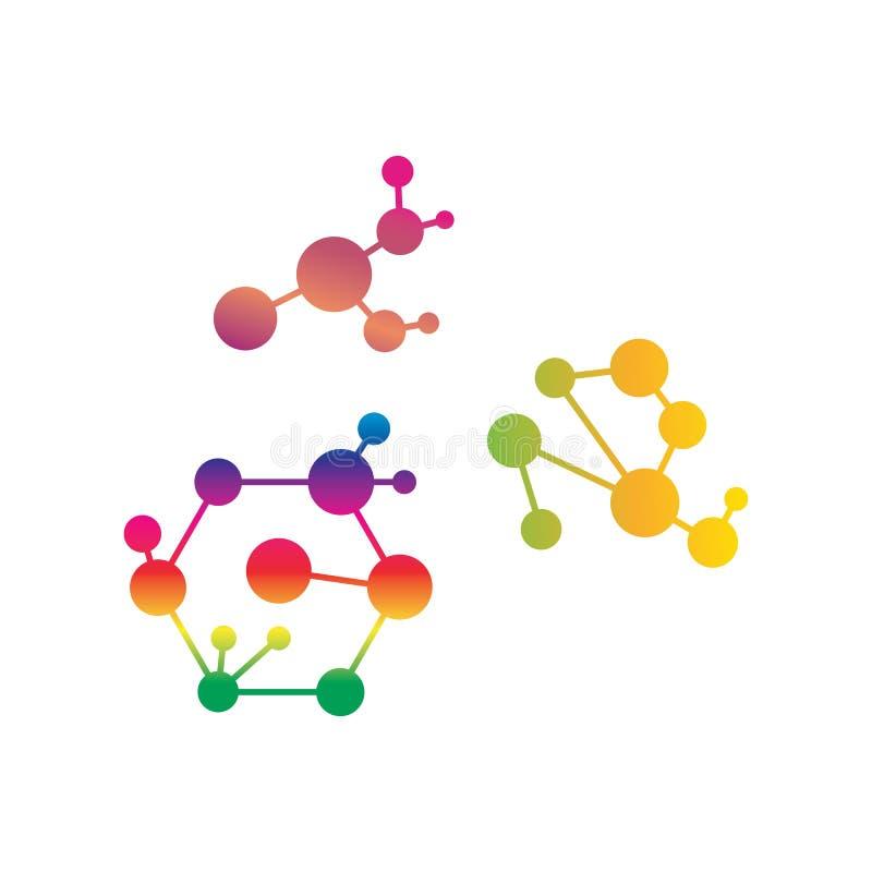Kemisk atomvektor för molekylär struktur royaltyfri illustrationer