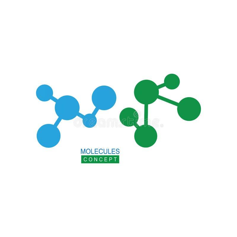 Kemisk atomvektor för molekylär struktur vektor illustrationer