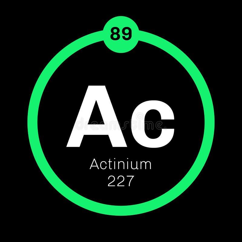 Kemisk beståndsdel för Actinium stock illustrationer