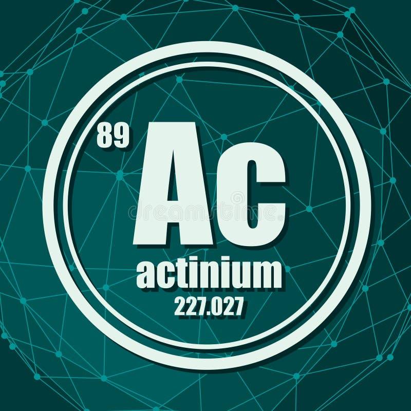 Kemisk beståndsdel för Actinium royaltyfri illustrationer