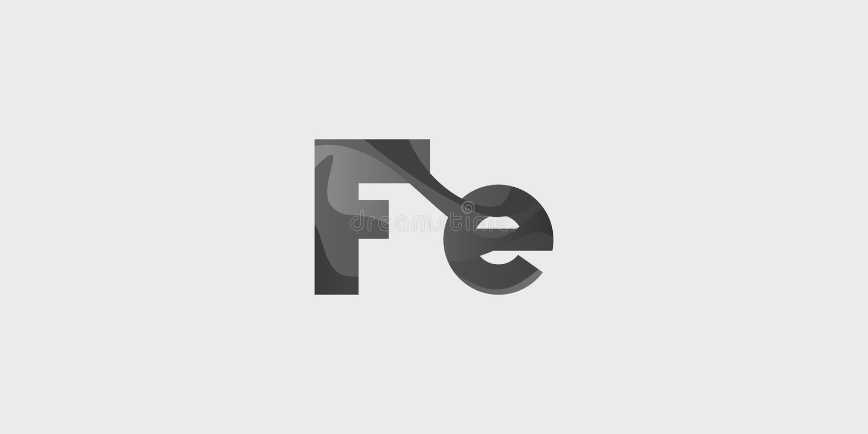 Kemisk beståndsdel för Fe-ferrum royaltyfri illustrationer