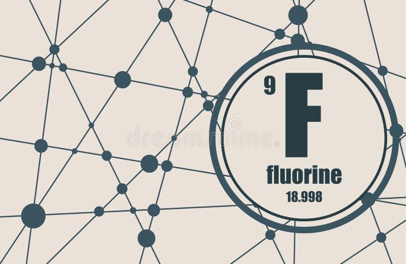 Kemisk beståndsdel för fluor royaltyfri illustrationer