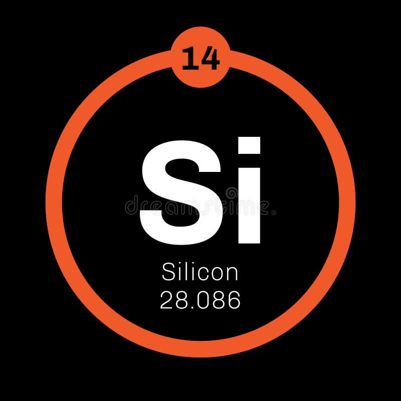 Kemisk beståndsdel för silikoner royaltyfri illustrationer