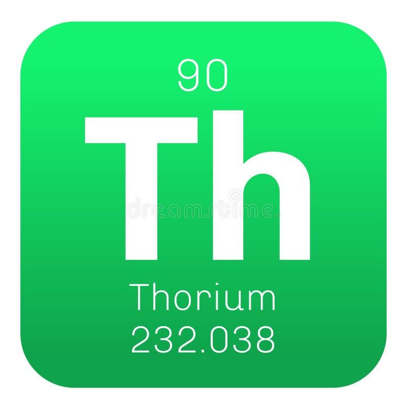 Kemisk beståndsdel för Thorium royaltyfri illustrationer