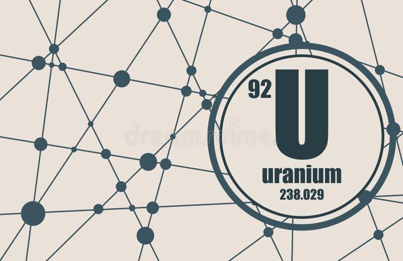 Kemisk beståndsdel för uran royaltyfri illustrationer