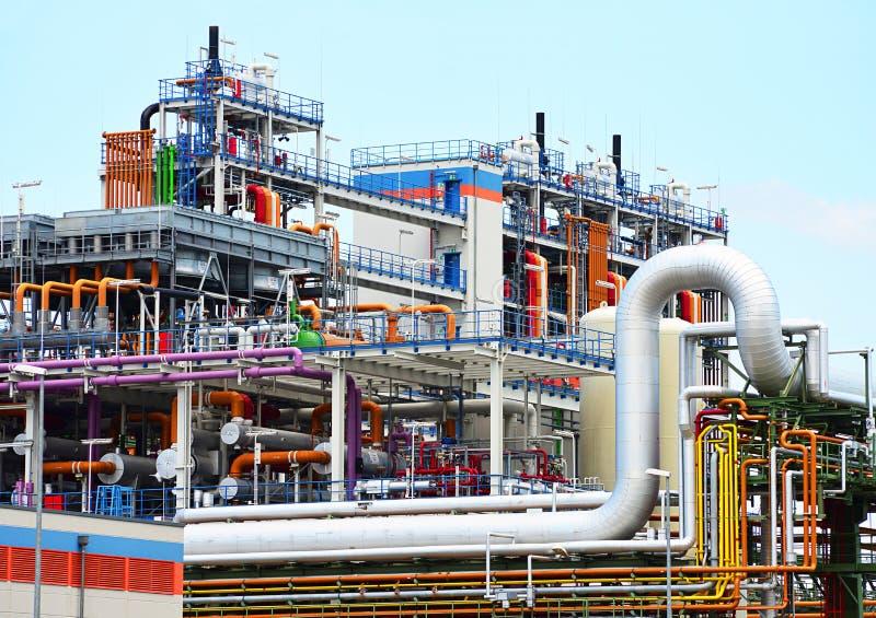 Kemisk bransch - fabrik för tillverkningen av kemisk pikstav royaltyfri bild