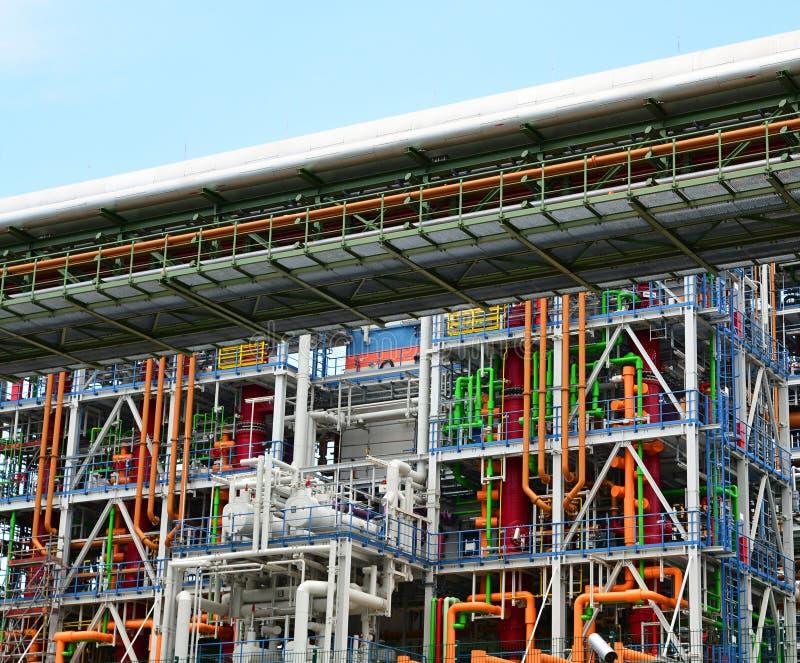 Kemisk bransch - fabrik för tillverkningen av kemisk pikstav arkivbilder