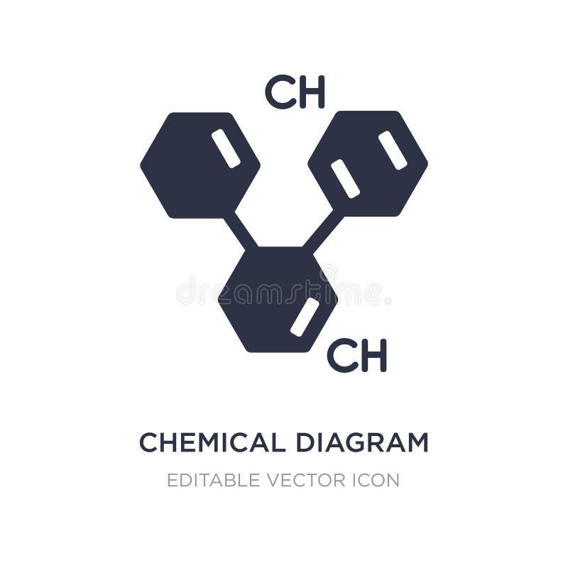 kemisk diagramsymbol på vit bakgrund Enkel beståndsdelillustration från utbildningsbegrepp vektor illustrationer