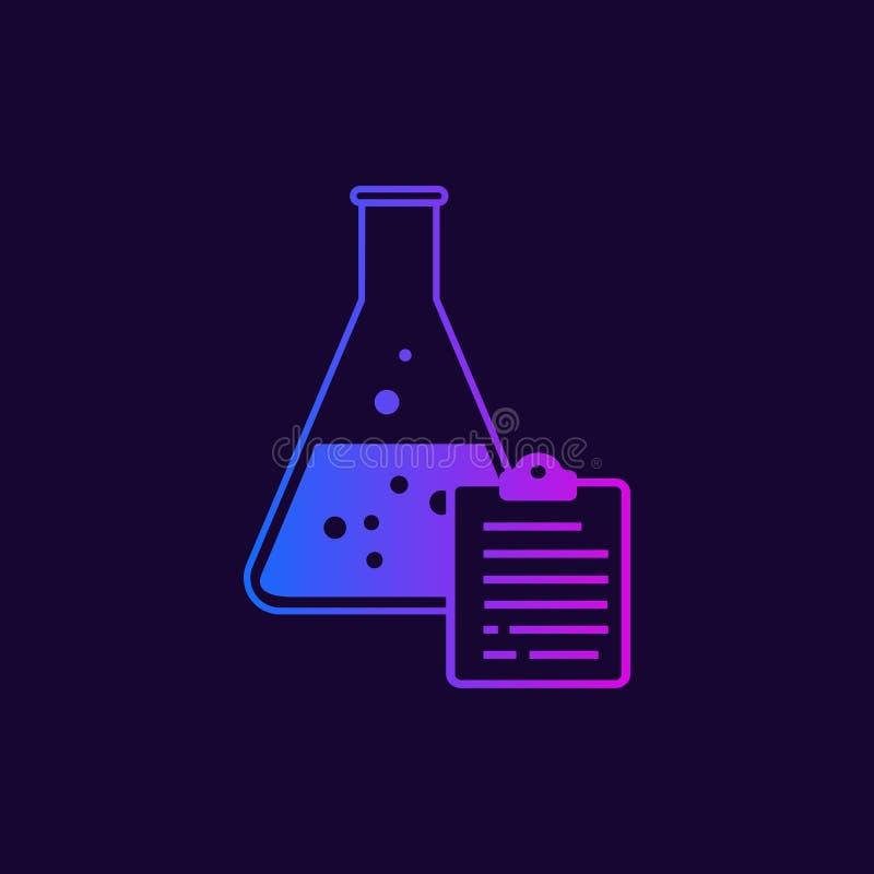Kemisk flaska och rapport vektor illustrationer