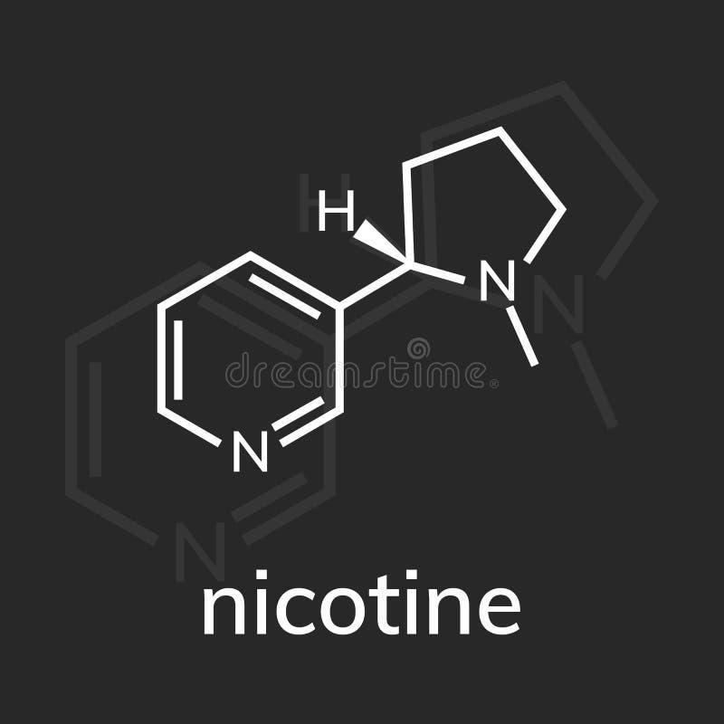 kemisk formel f?r nikotin stock illustrationer