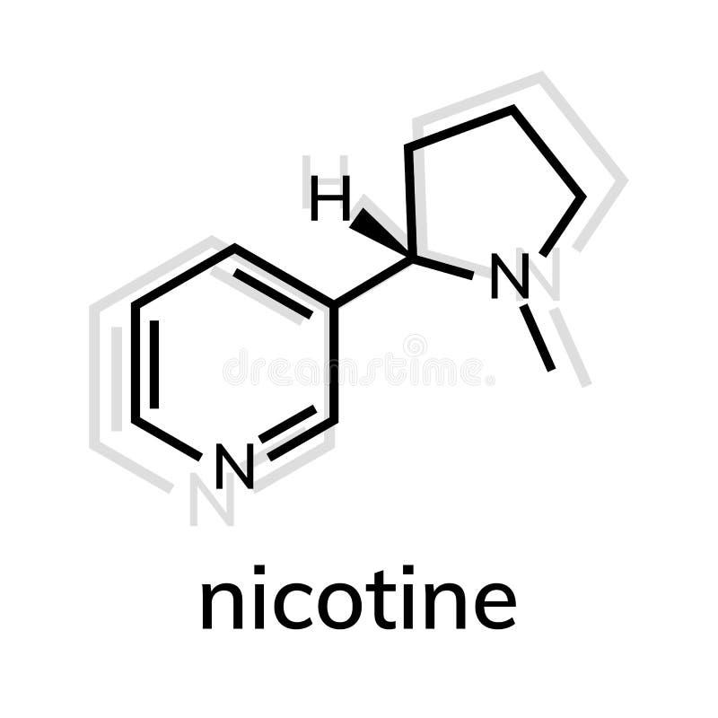 kemisk formel f?r nikotin vektor illustrationer