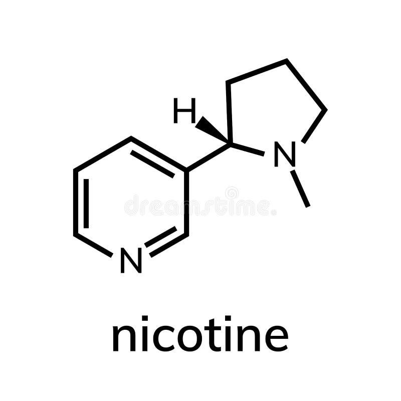 kemisk formel f?r nikotin royaltyfri illustrationer