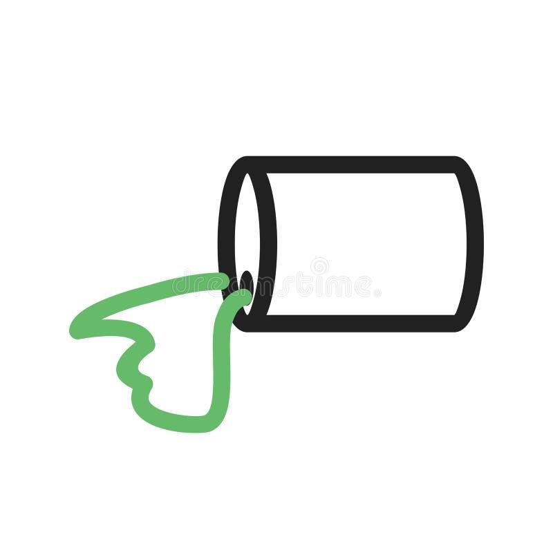 Kemisk läcka stock illustrationer