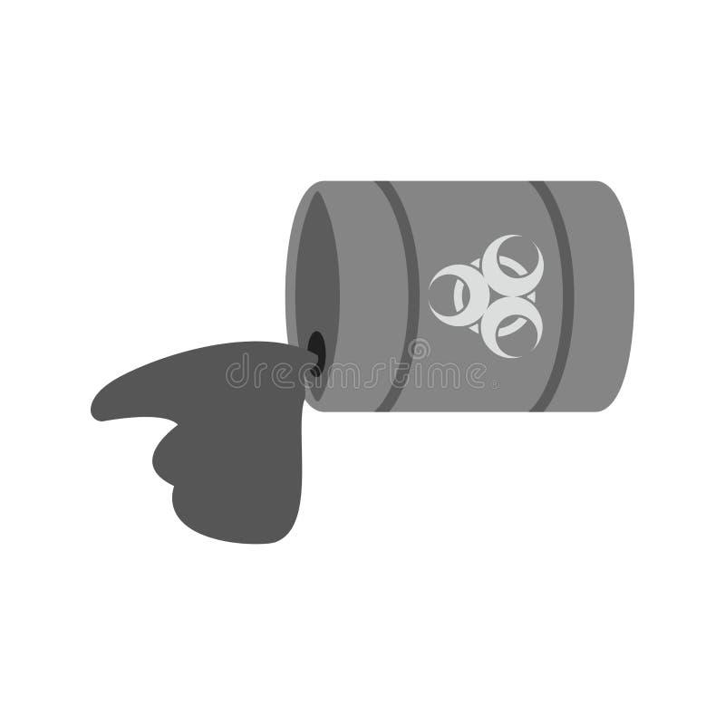 Kemisk läcka royaltyfri illustrationer